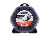 Корд трим.ECHO BLACK DIAMOND 2.4мм*12м (витой квадрат), арт. 340095004